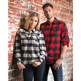 Burnside Mens Plaid Flannel Shirt