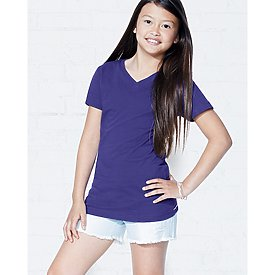 LAT Girls V-neck Longer Length T