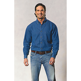 Sierra Pacific Mens Longsleeve Denim Shirt